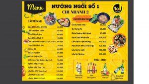 menu Nướng Ngói Số 1